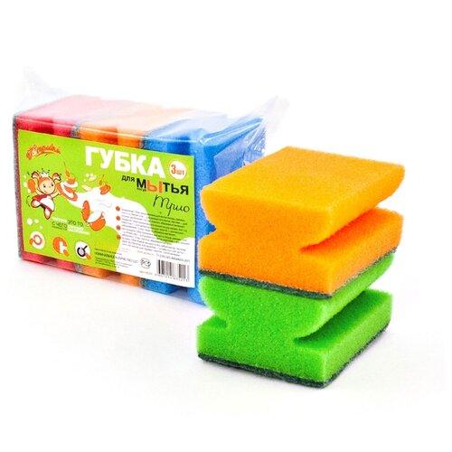 Фото - Губка для посуды Золушка Трио губка для посуды хозяюшка мила задира 01019