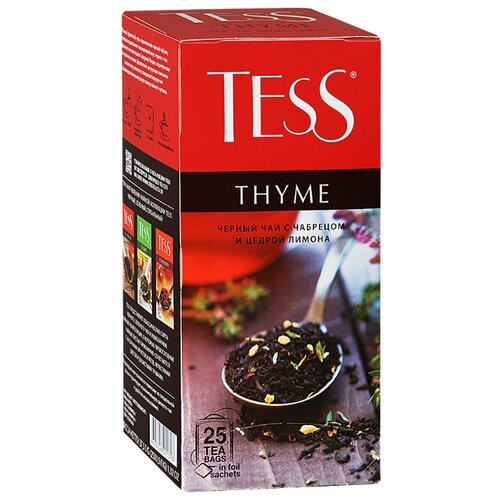 Чай черный Tess Thyme в пакетиках