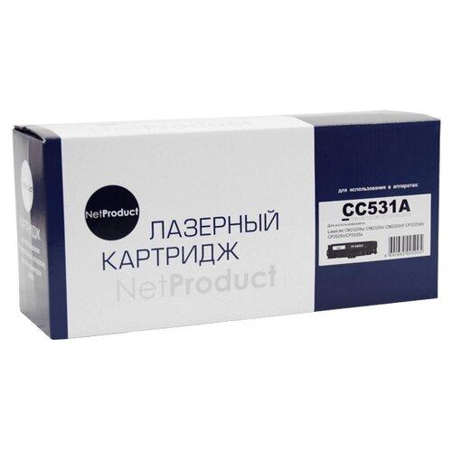 Фото - Картридж Net Product N-CC531A № картридж sakura cc531a crg718с