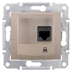 Розетка для интернета / телефона Schneider Electric SEDNA SDN4500168, титан