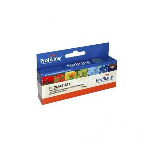 Картридж ProfiLine PL-CLI-451XLY картридж profiline pl cli 8bk bk