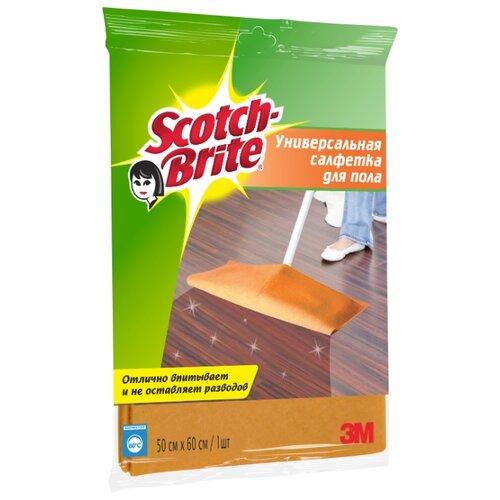 Салфетка универсальная для пола салфетка универсальная scotch brite в рулоне цвет розовый 3 5 м