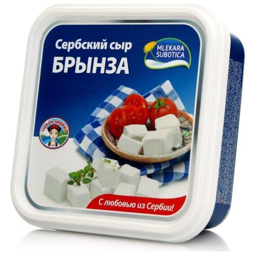 Сыр Mlekara Subotica брынза 45% дар гор сыр брынза с чёрными и зелёными плодами оливы в масле 40% 250 г