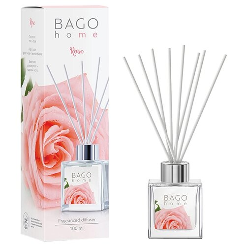 BAGO home диффузор Роза 100 мл диффузор ароматический bago home свежий хлопок 100 мл
