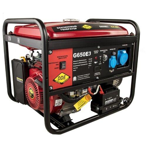 Бензиновый генератор DDE G650E3