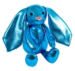 Мягкая игрушка ABtoys Кролик синий 16 см