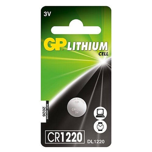 Фото - Батарейка GP Lithium Cell CR1220 батарейка gp lithium cr123a