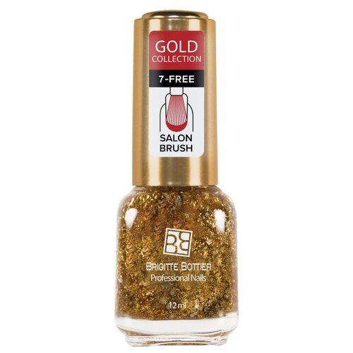 Лак Brigitte Bottier Gold brigitte bottier топовое покрытие для ногтей vinyl top coat 7 days strong 12 мл