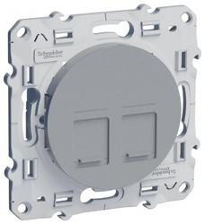 Розетка для интернета / телефона Schneider Electric ODACE S53R481, алюминиевый