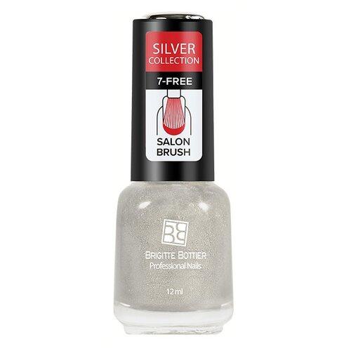 Лак Brigitte Bottier Silver brigitte bottier топовое покрытие для ногтей vinyl top coat 7 days strong 12 мл
