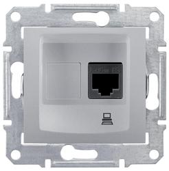 Розетка для интернета / телефона Schneider Electric SEDNA SDN4700160, алюминиевый