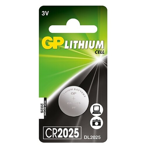 Фото - Батарейка GP Lithium Cell CR2025 батарейка gp lithium cr123a