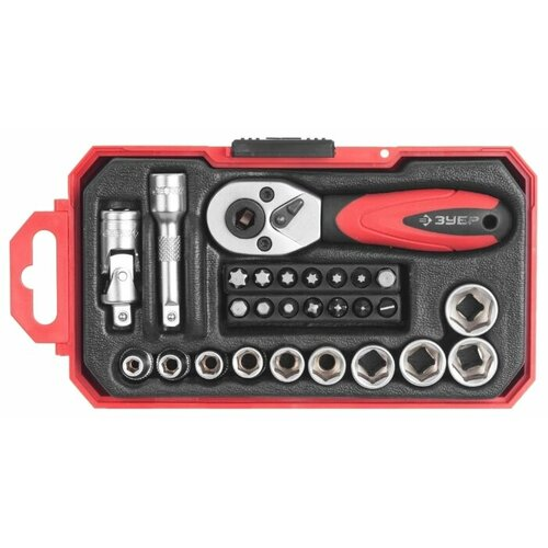 Набор бит и торцевых головок набор бит торцевых головок и ключей зубр эксперт 2654 h40 z01