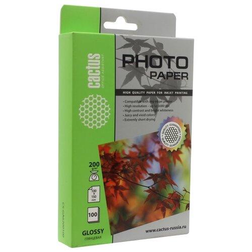 Бумага Cactus CS-GA6200100 бумага cactus cs hga626020 professional 10x15см 260г кв м суперглянцевая 20л