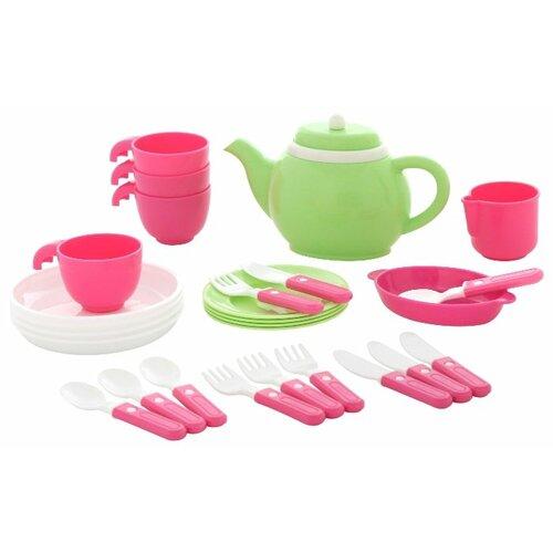 Фото - Набор посуды Полесье на 4 полесье набор игрушек для песочницы 468 цвет в ассортименте