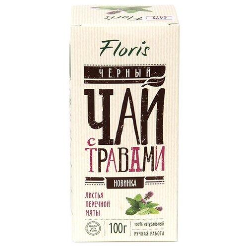 Чай черный Floris с мятой чай листовой floris detox