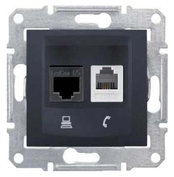 Розетка для интернета / телефона Schneider Electric SEDNA SDN5200170