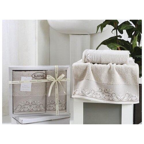 Набор махровых полотенец KARNA набор полотенец кухонных karna karna mp002xu02lrt