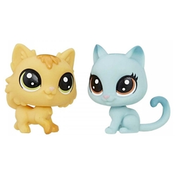 Фигурки Hasbro Littlest Pet Shop - Fluffy Catson & Kitty Von Grey-Cat С1677