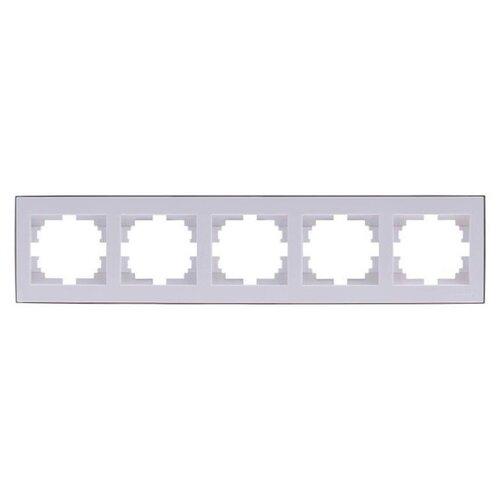 Рамка 5п Lezard 703-0202-150 розетка lezard 703 0202 124 серия скр проводки рейн защ от детей керамика белый с белой вставкой