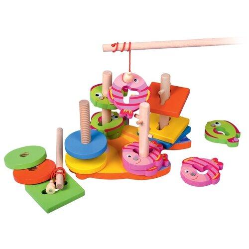 деревянные игрушки mapacha лабиринт сортер большой на колесиках Пирамидка-сортер Mapacha