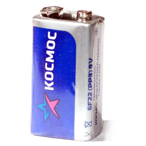 Фото - Батарейка КОСМОС 6F22 крона батарейка космос 6f22 крона