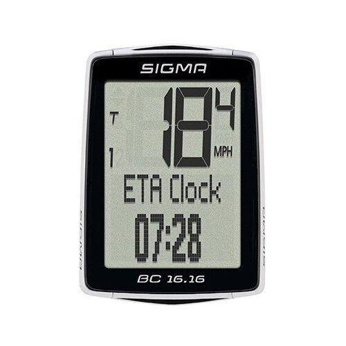 Велокомпьютер SIGMA BC 16.16 велокомпьютер sigma bc 16 16 sts cad беспроводной 16 функций датчик каденса 01618