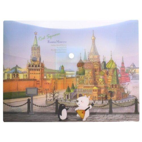 Папка-конверт на кнопке Москва папка на кнопке comix цвет зеленый