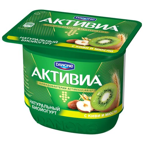 Йогурт Активиа с киви и мюсли