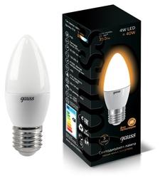 Лампа светодиодная gauss EB103102104, E27, C37, 4Вт