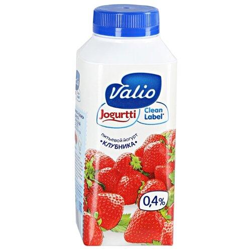 Питьевой йогурт Valio клубника