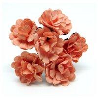 Декоративный букетик (персиковый), арт. DKB148C
