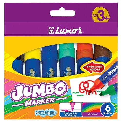 Luxor Набор фломастеров Jumbo 6