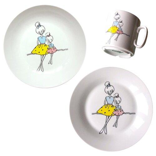 Фото - Набор для завтрака Сотвори Чудо тарелка сотвори чудо линия 20 см белый