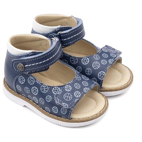 Сандалии Tapiboo tapiboo tapiboo ортопедические сандали для мальчика открытые сине коричневые