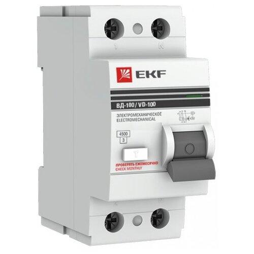 УЗО EKF 100мА тип AC ВД-100 2 автомат ekf mccb99 100 100m