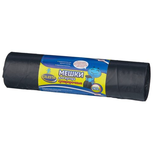 Мешки для мусора Celesta 240 л мешки для мусора celesta с завязками цвет синий 35 л 30 шт