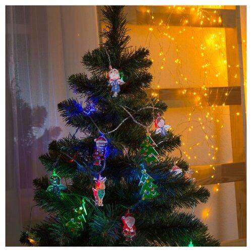 Гирлянда Luazon Рождественская гирлянда светодиодная luazon конский хвост цвет фиолетовый 225 ламп 8 режимов 12 v 15 нитей длина 1 5 м 1080614