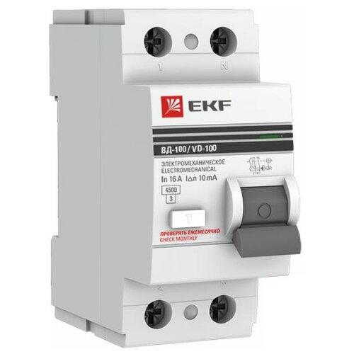 УЗО EKF 10мА тип AC ВД-100 2 автомат ekf mccb99 100 100m