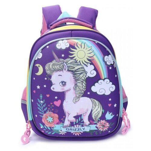 Рюкзак формованный Grizzly school bags grizzly 10521132 schoolbag backpack orthopedic bag for boy and girl animals flowers