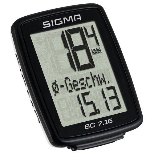 Велокомпьютер SIGMA BC 7.16 ATS велокомпьютер sigma bc 16 16 sts cad беспроводной 16 функций датчик каденса 01618