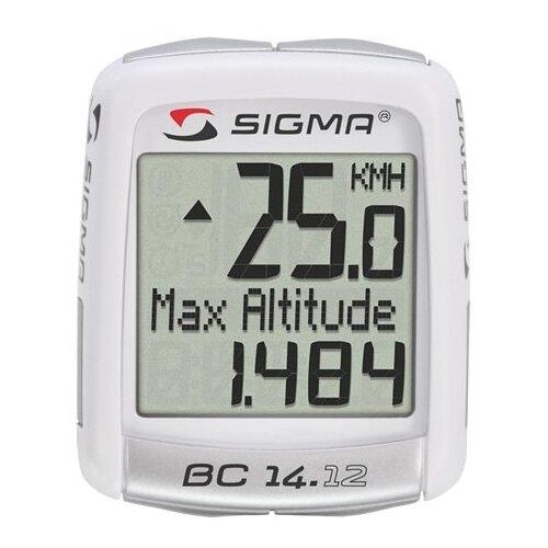 Велокомпьютер SIGMA BC 14.12 ALTI велокомпьютер sigma bc 16 16 sts cad беспроводной 16 функций датчик каденса 01618