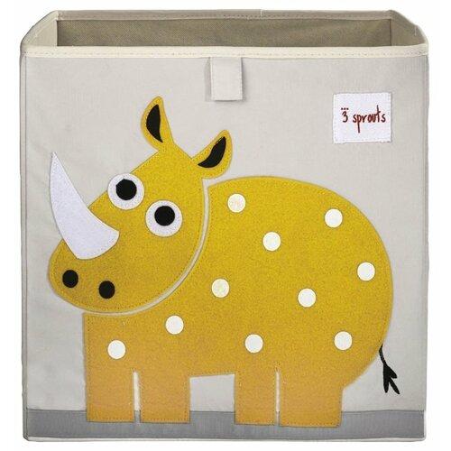 Фото - Ящик 3 Sprouts Носорог 33х33х33 3 sprouts сундук для хранения игрушек 3 sprouts жёлтый носорог