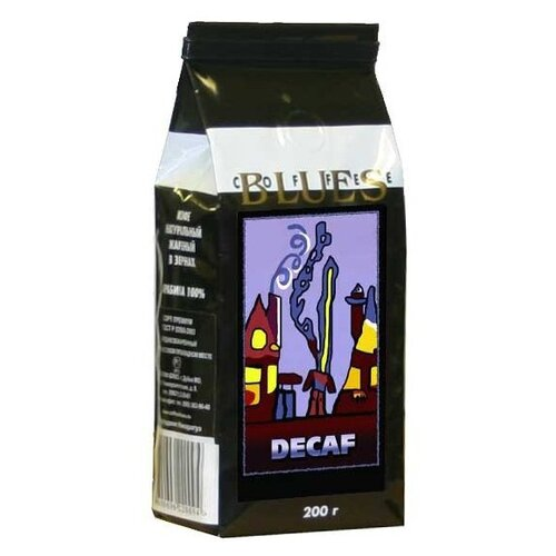 Кофе в зернах Блюз Декаф без