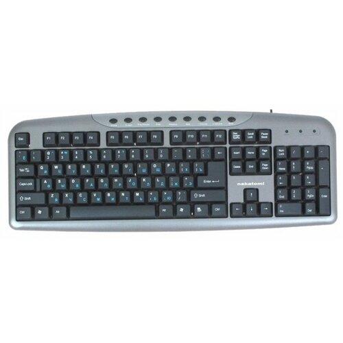 Клавиатура NAKATOMI KN-11U Grey клавиатура nakatomi kg 35u silver