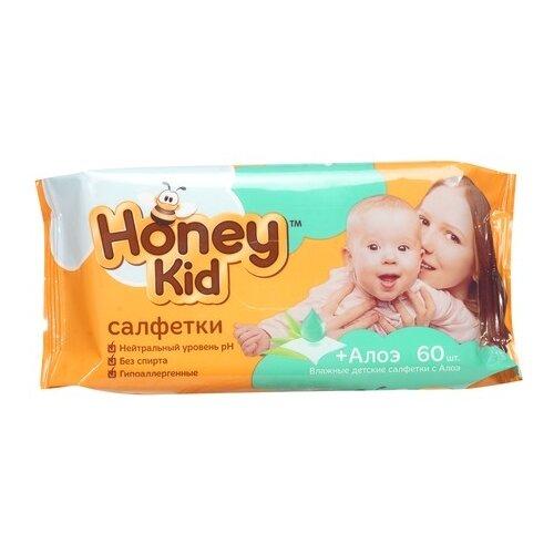 Влажные салфетки Honey Kid с алоэ honey honey lion