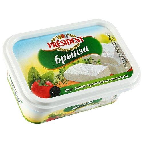 Сыр President брынза 45% дар гор сыр брынза с чёрными и зелёными плодами оливы в масле 40% 250 г