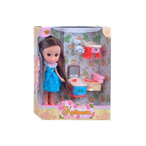 Кукла Yako Катенька с набором кукла yako m6579 2