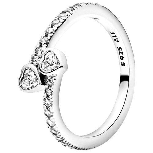 PANDORA Кольцо Два сердца фото