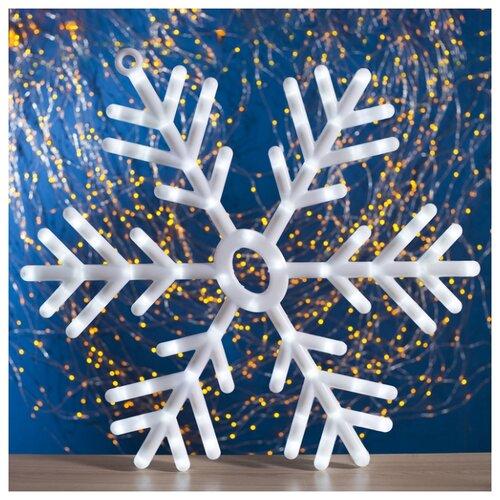 Подвеска Luazon Снежинка картинка световая luazon снеговичок на присоске